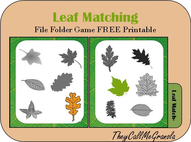 photo relating to Printable File Folder Games identified as Far more Record Folder Online games: Owl Counting, Feeling Matching, Leaf
