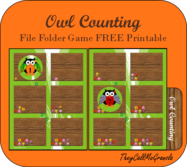 photograph about Free Printable File Folder Games referred to as Far more Report Folder Online games: Owl Counting, Sensation Matching, Leaf