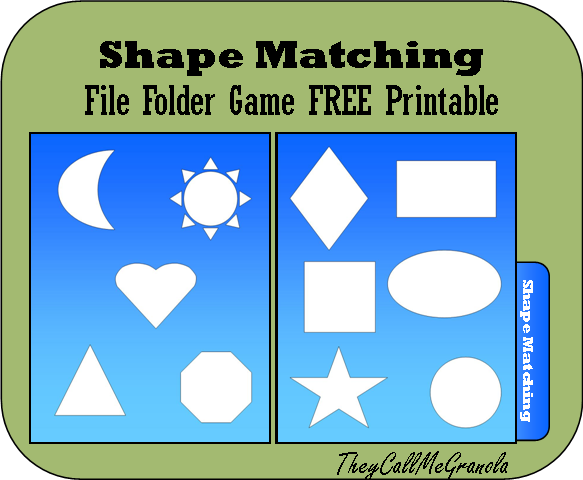 File Folder Games For Tots & Preschoolers: Color Matching