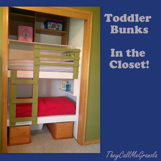 Bunk Bed with Closet Underneath