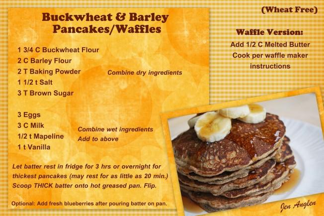 Buckwheat & Barley Pancakes