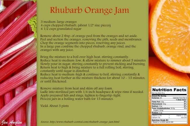 Rhubarb Orange Jam