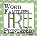 I Miss Writing & A Word Families Free Printable